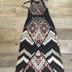 Funky Cool Aztec   Tribal Chicos 0 Maxi Dress EUC